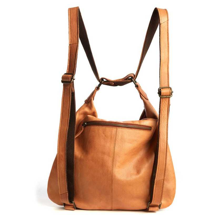 Bolso mochila de piel para mujer Monpiel Cuero Trasera Mochila