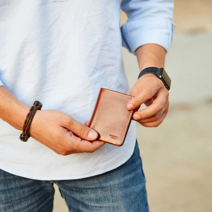 Small men's wallet with coin pocket Mini