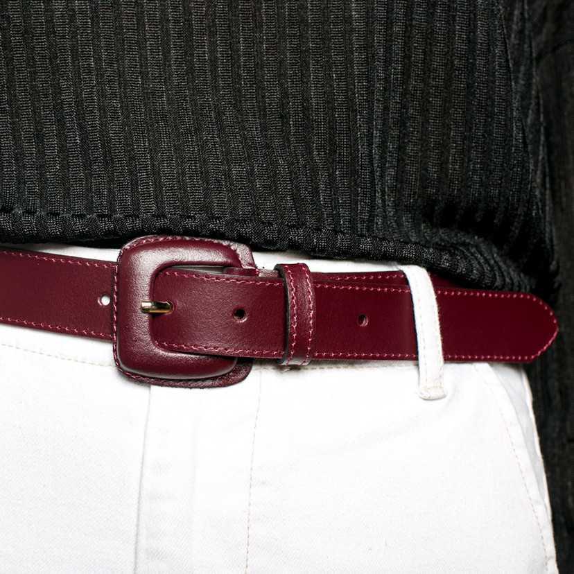 Cintura Donna in Pelle Fibbia Pelle