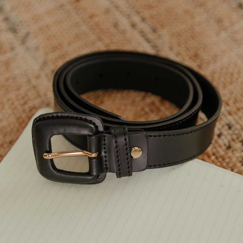 Leather belt Woman with Buckle Leather