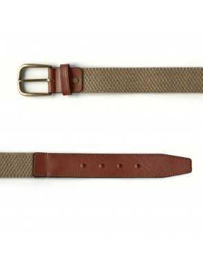 Men Elastic Belt - Beige