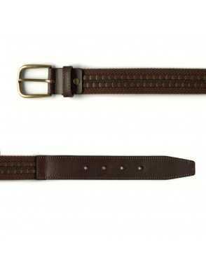 Cinturón Lona y Cuero - Marrón