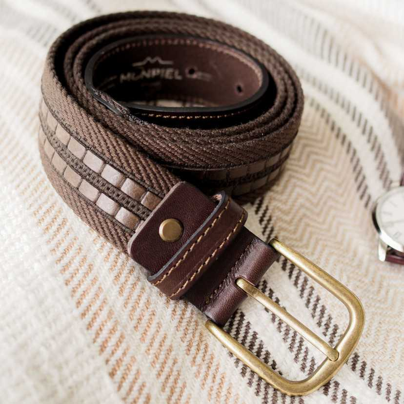 Cintura in Pelle e Tela