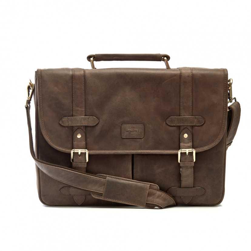 Men's leather briefcase Hunter