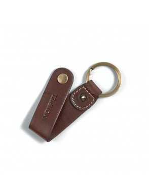 Leather keyring Hunter - Brown