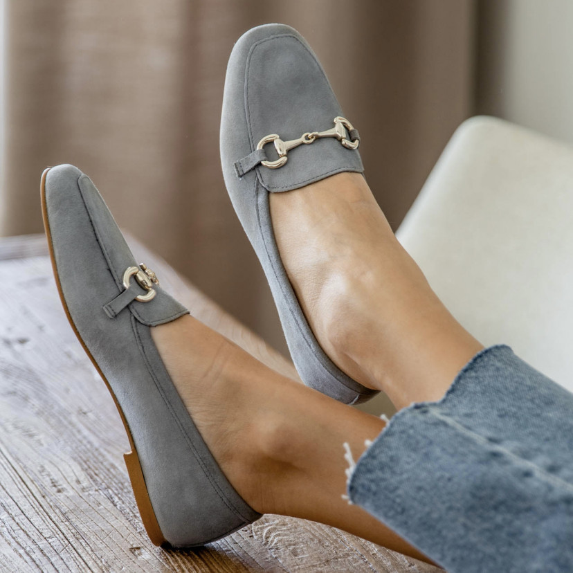 Suede loafers for woman Louise