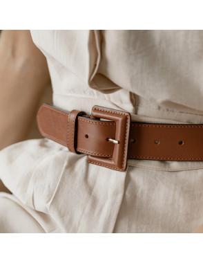 Cintura larga in pelle con...
