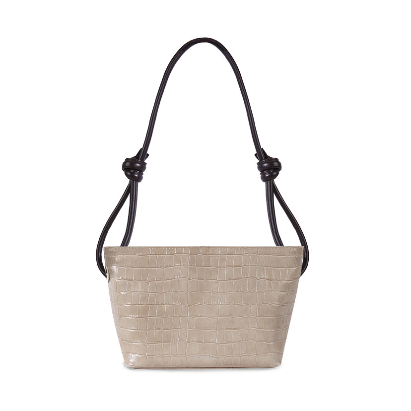 Small knotted leather bag Coco