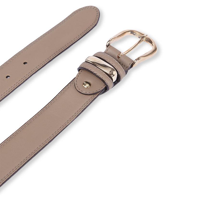 Cinturón Nappa Hebilla y Pasador Dorado