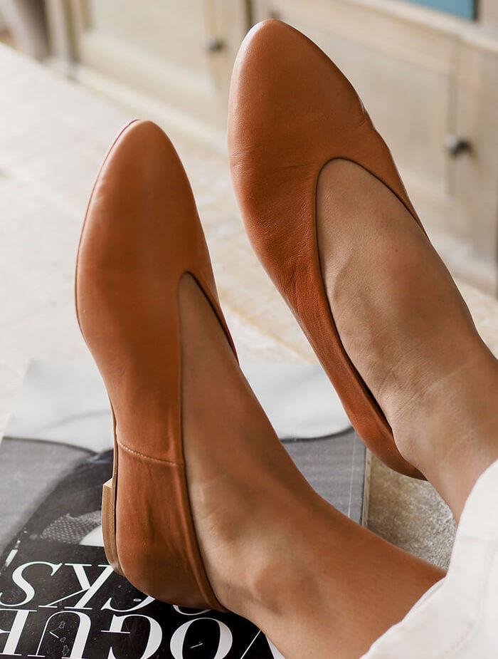 zapato piel bailarina